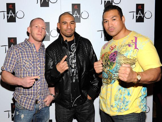 Gray Maynard, Jay Hieron and Ray Sefo at TAO