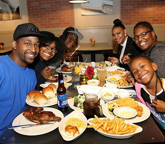 Guests at The Wrangler Grill Grand Opening