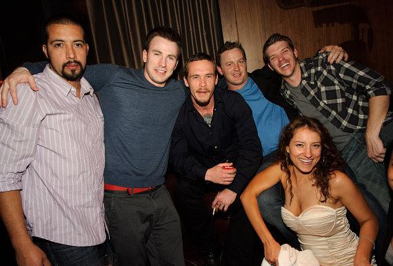Captain America's Chris Evans Parties at Marquee Nightclub in Las Vegas