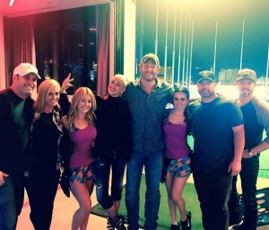 Gwen Stefani and Blake Shelton at the newly opened Topgolf in Las Vegas