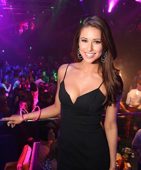 Miss USA Nia Sanchez Parties at The Bank and HAZE in Las Vegas