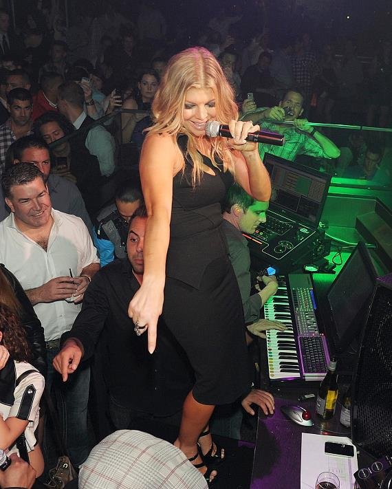 Fergie dances and sings in DJ booth at HAZE