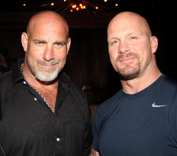 Bill Goldberg and Stone Cold Steve Austin at Vanity