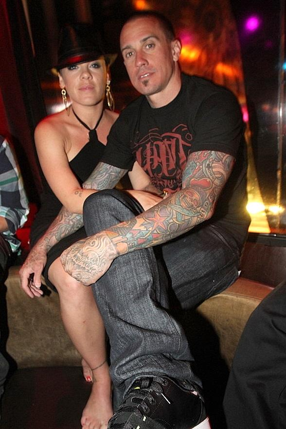 Pink and Carey Hart at Wasted Space