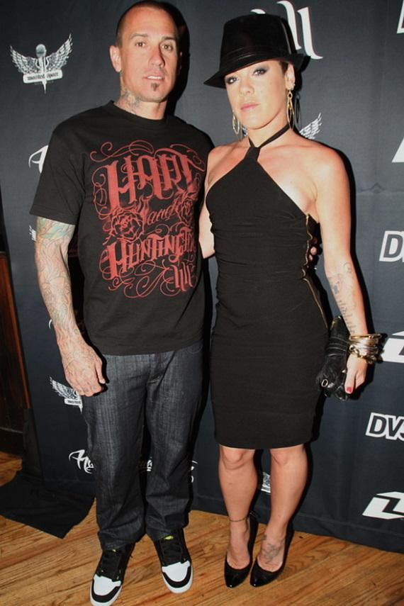 Carey Hart and wife Pink at Wasted Space