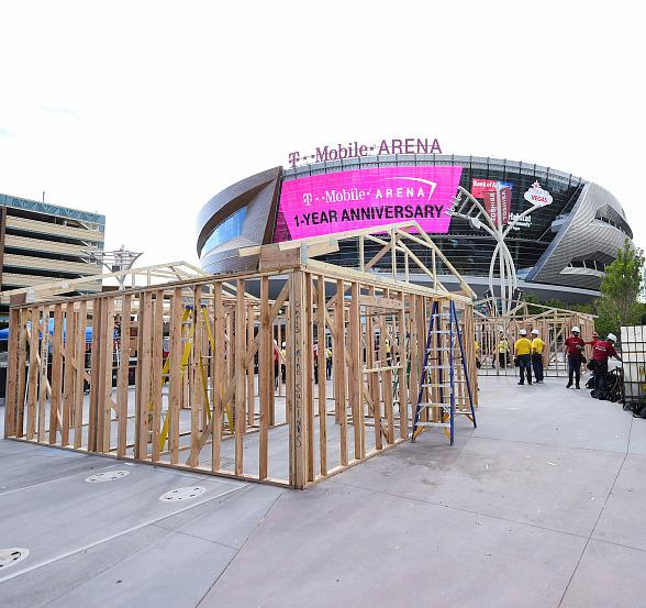 T-Mobile Arena's First Anniversary Celebration Kicks Off with a Habitat for Humanity Las Vegas