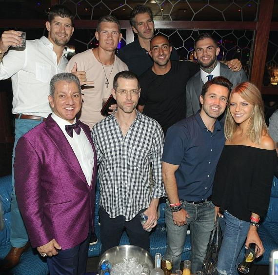 Stephen Thompson, David Benioff, Cody Garbrandt, Bruce Buffer, D.B. Weiss, Rob McElhenney and Kaitlin Olson
