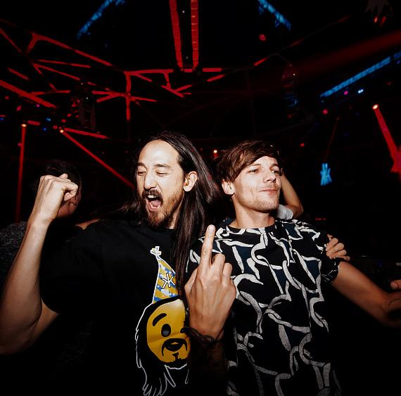 Steve Aoki and Louis Tomlinson at Hakkasan