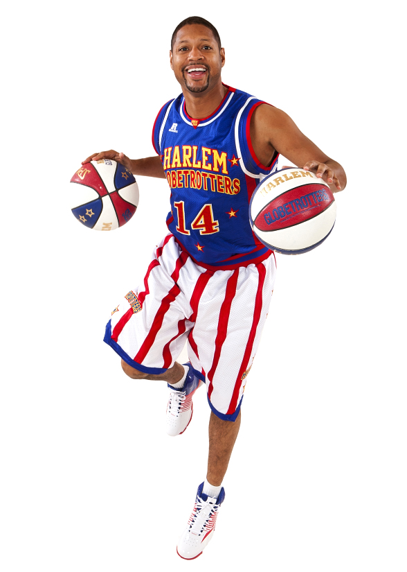 Harlem Globetrotters guard Handles Franklin