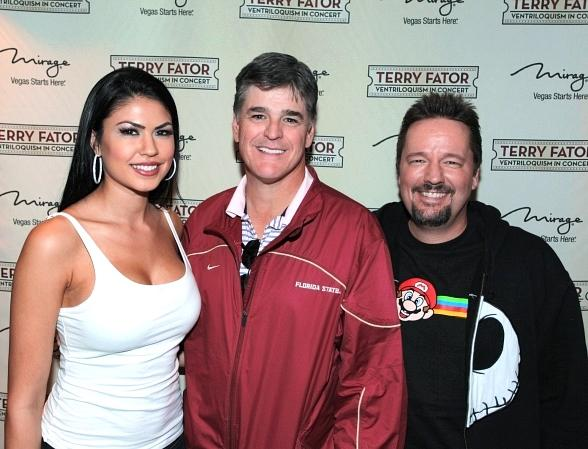 Sean Hannity Visits Terry Fator at The Mirage