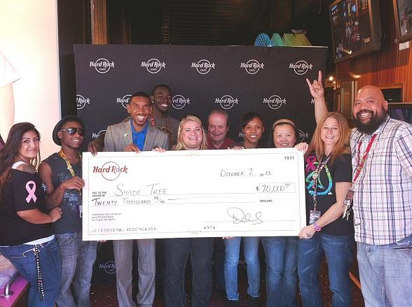 Hard Rock Cafes Las Vegas Donates $20,000 to The Shade Tree