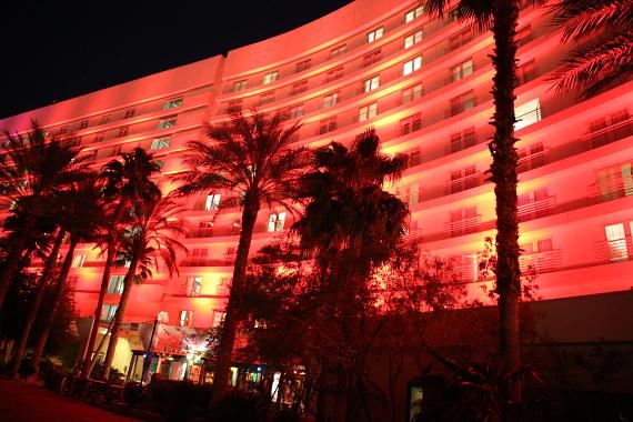 in honor of World AIDS Day (Dec. 1), Hard Rock Hotel & Casino Las Vegas turned red