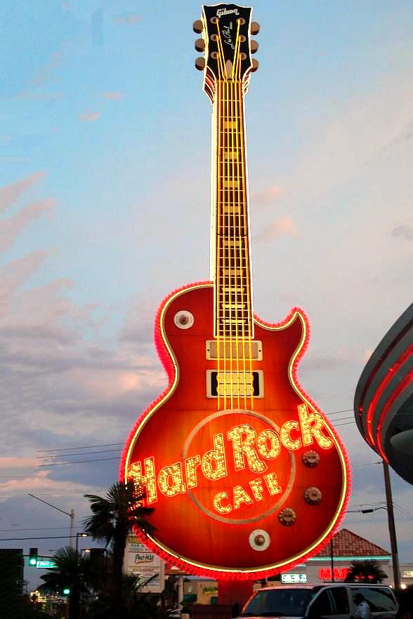 neon museum launches fundraising campaign to restore hard rock guitar sign. Black Bedroom Furniture Sets. Home Design Ideas