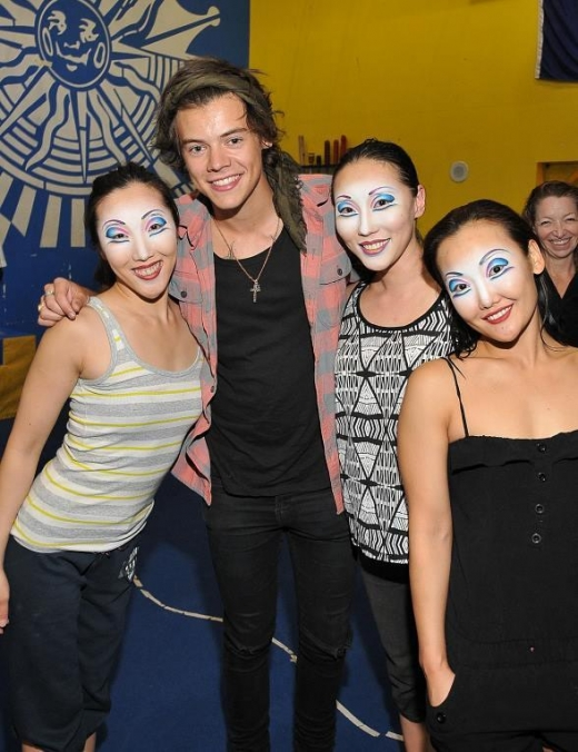 Harry Styles of One Direction Visits