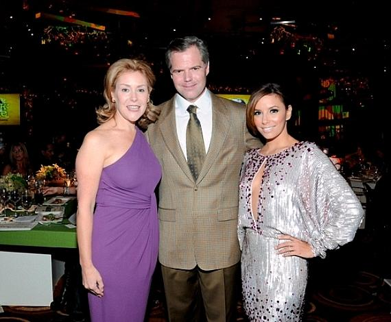 Heather and Jim Murren with Eva Longoria-Parker at Nevada Cancer Institute's Rock for the Cure Las Vegas