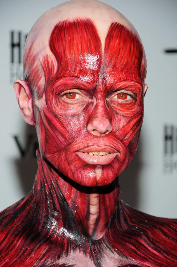 "Heidi Klum Becomes the ""Visible Woman"" for Halloween"