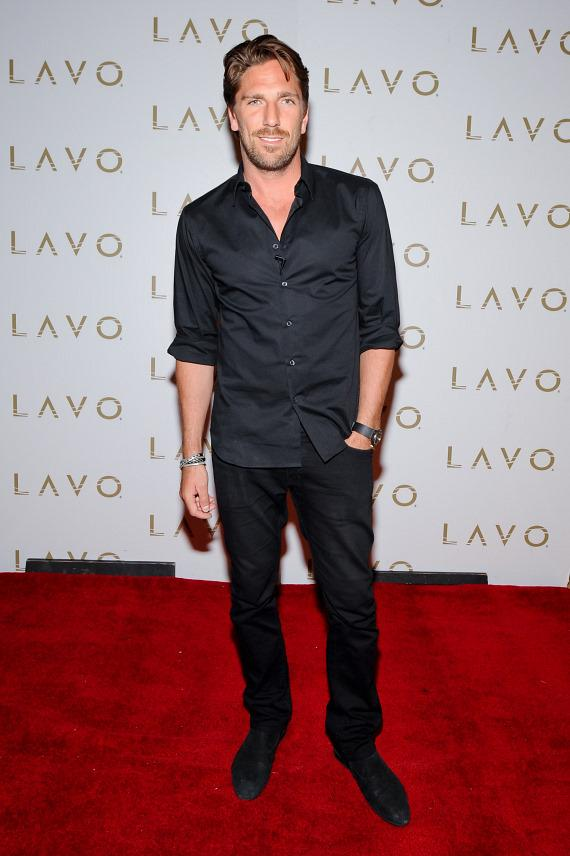 Henrik Lundqvist on LAVO red carpet