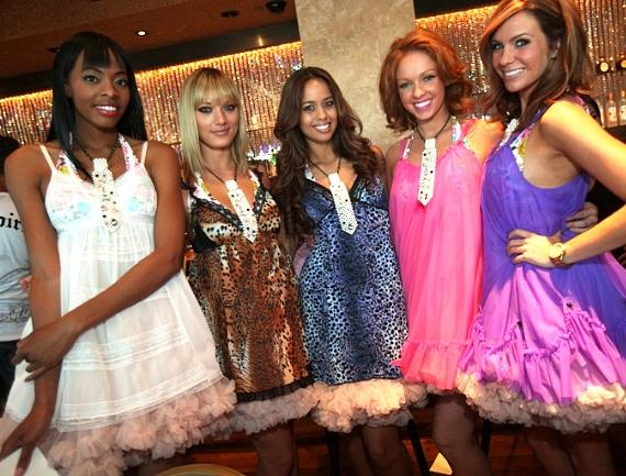 Models from Betsey Johnson at Miracle Mile Shops display the latest fall fashions