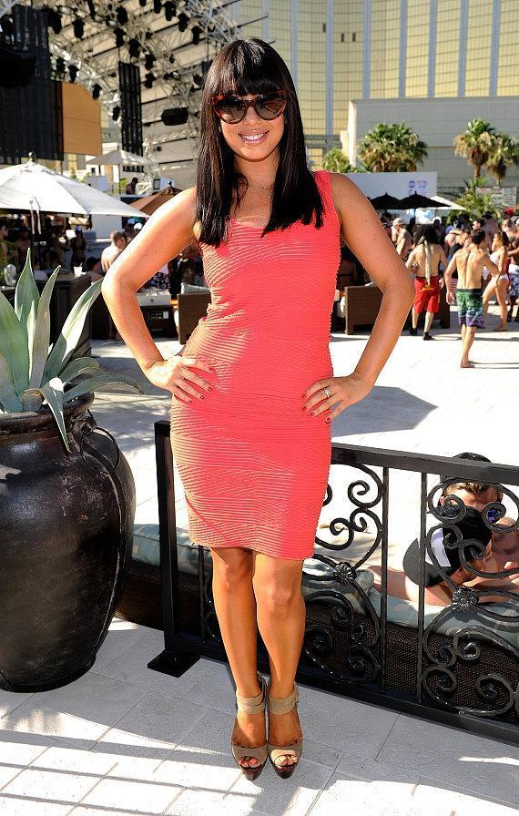 Dancer Cheryl Burke attends Allison Melnick's birthday celebration at Daylight Beach Club