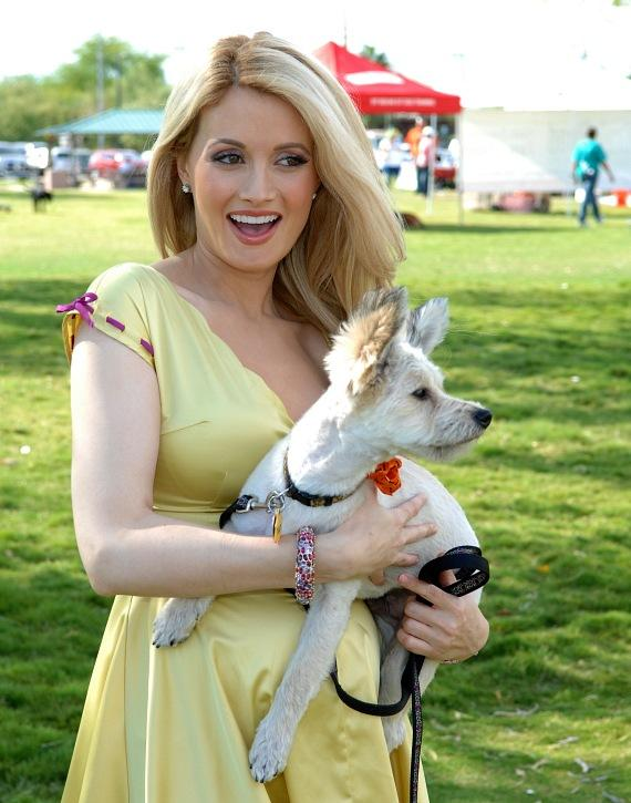 "Holly Madison and ""Leroy"" at the Forever Home Picnic to Benefit the Lied Animal Foundation"
