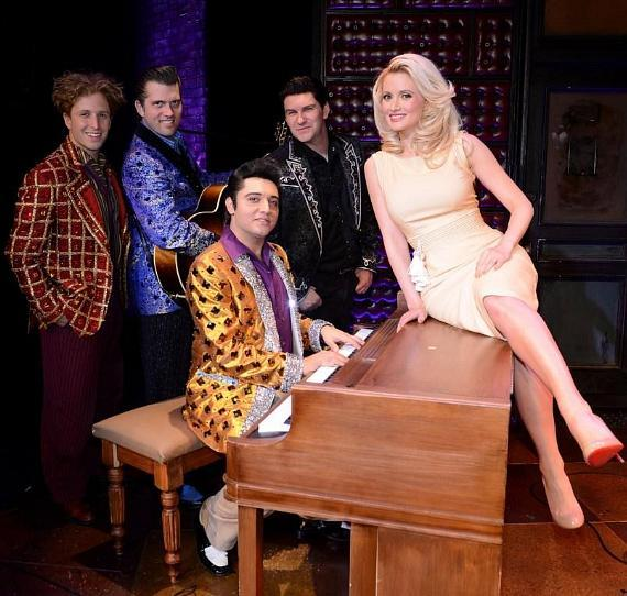 Holly Madison with cast of Million Dollar Quartet