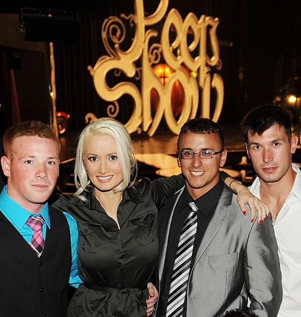 Holly Madison with US Marines