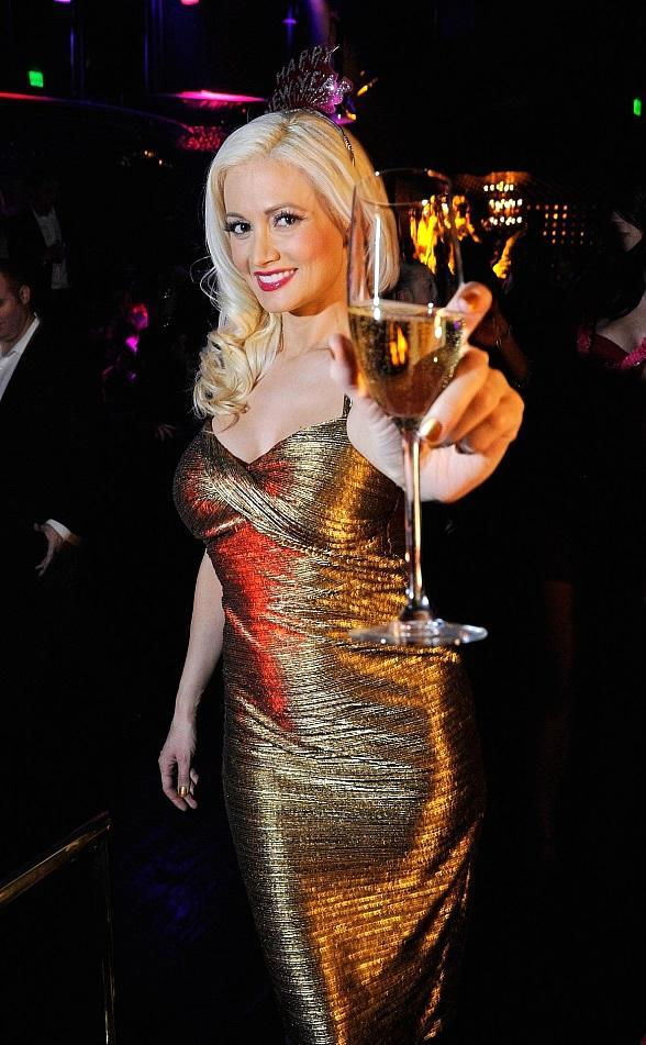 Holly Madison hosts New Year