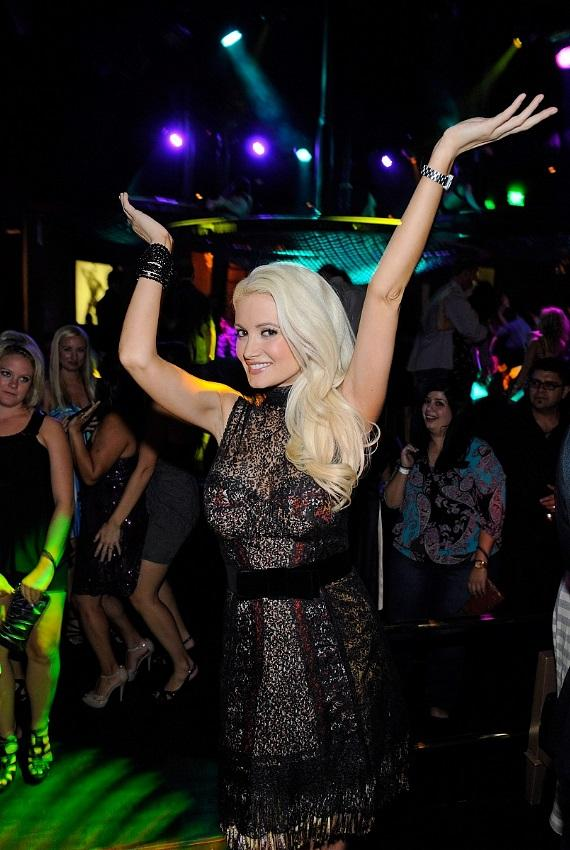 """Holly Madison celebrates the DVD release of """"Holly's World"""" at Gallery Nightclub in Las Vegas"""