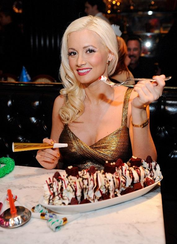 Holly Madison satisfying her sweet tooth at Sugar Factory American Brasserie