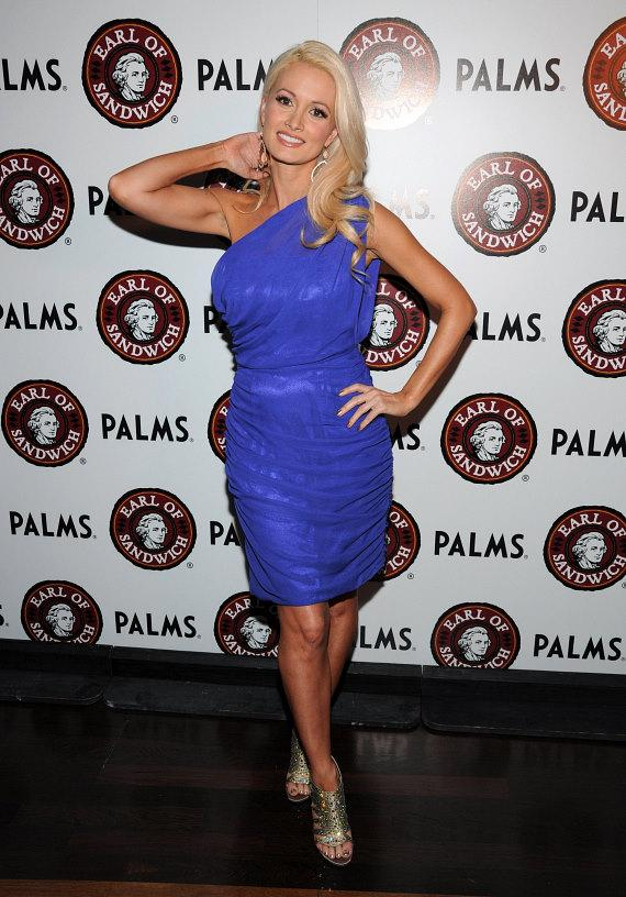 Holly Madison arrives at the opening of Earl of Sandwich at Palms Casino Resort