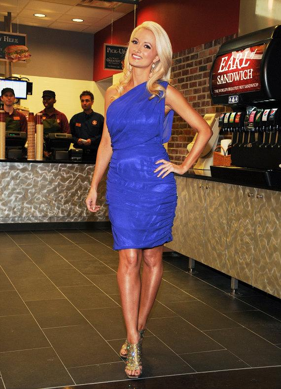 Holly Madison at the Opening of Earl of Sandwich at Palms Casino Resort