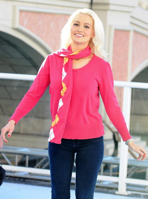 Holly Madison skates on the Outdoor Ice Skating Rink at The Venetian and The Palazzo Las Vegas