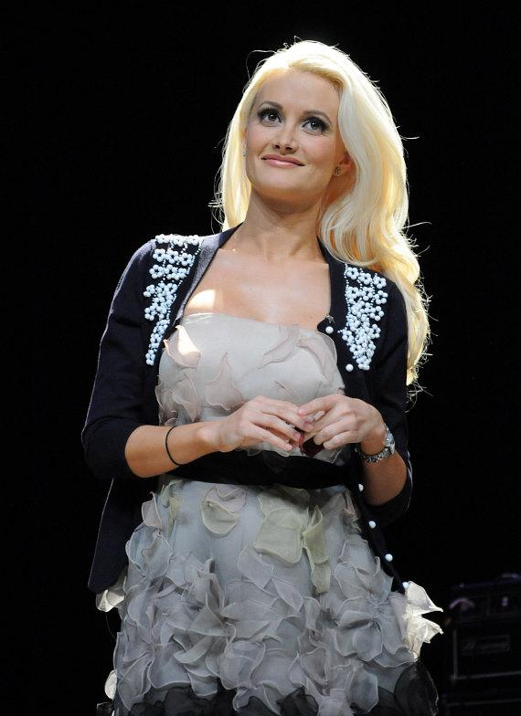 Holly Madison on stage at 2nd Annual Nevada Wild Fest at the Henderson Pavilion