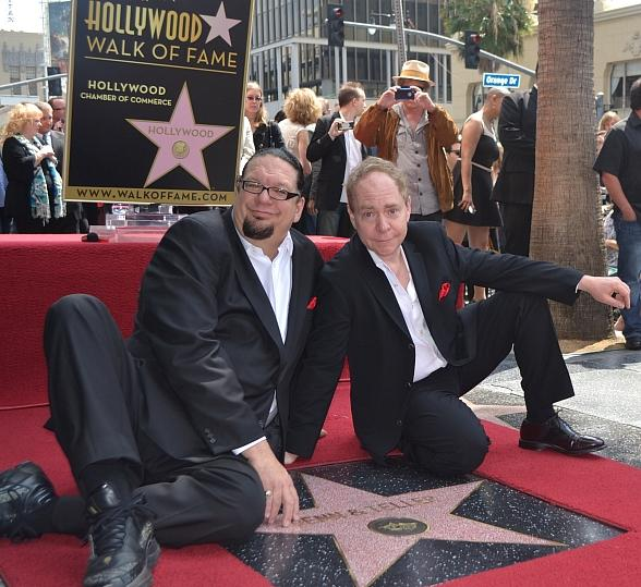 Penn & Teller Receive Star on The Hollywood Walk of Fame