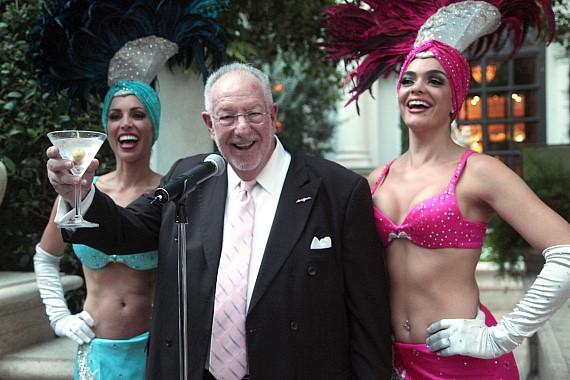 Honorary Oscar Goodman makes toast at Bouchon at The Venetian
