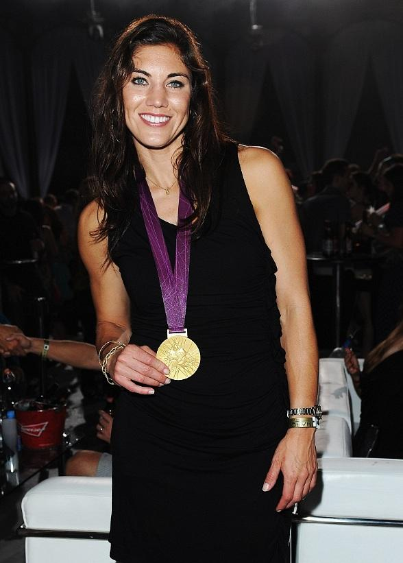 Hope Solo with Gold Medal