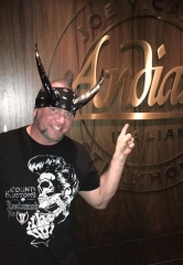 "Horny Mike from HISTORY Channel's hit tv series ""Counting Cars"" dines at Andiamo Italian Steakhouse at the D Las Vegas"
