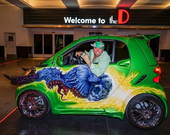 Horny Mike in Counting Cars smart car at the D Las Vegas