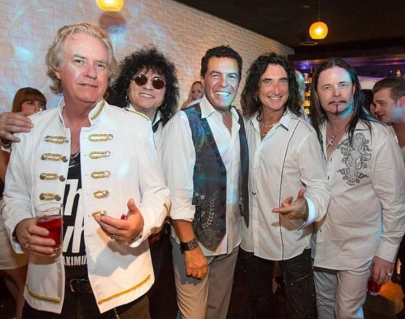 Howard Leese, Paul Shortino, Clint Holmes, Robin McAuley and John Payne