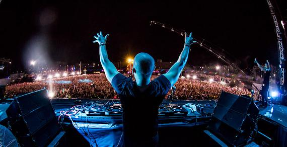 Afrojack performs at EDC