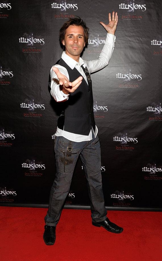 Master Illusionist Jan Rouven on the red carpet during the Grand Opening of his new show ILLUSIONS in Las Vegas