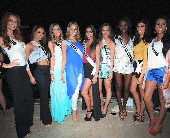 "Miss USA 2016 Pageant Contestants at Mandalay Bay's ""Concerts on the Beach"""