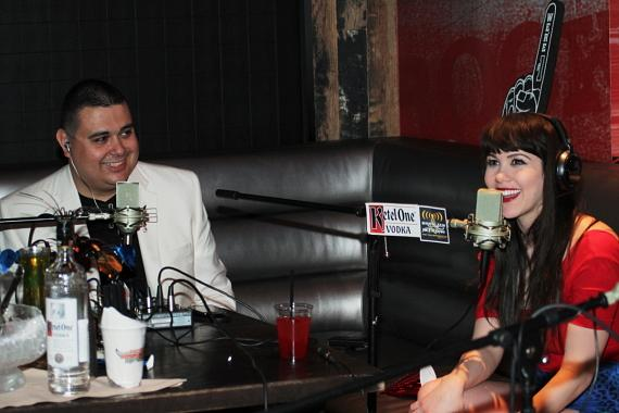 Co-host Robert Blasi with Claire Sinclair