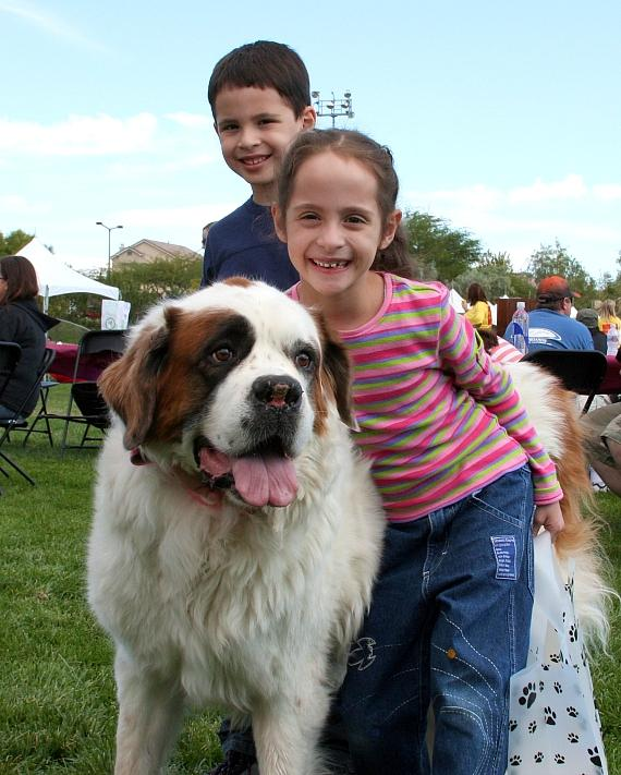 Kids and their pet at Family, Fur & Fun Festival