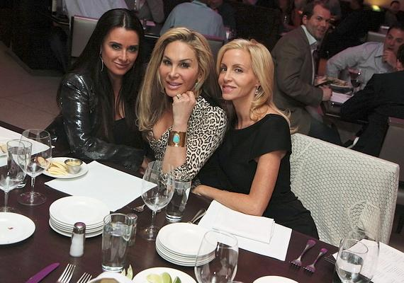 Kyle Richards, Adrienne Maloof and Camille Grammer at N9NE Steakhouse