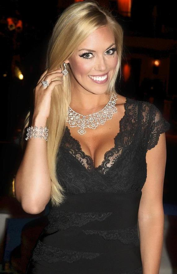 Sarah Chapman wearing $2 million in Lili Diamond jewelry