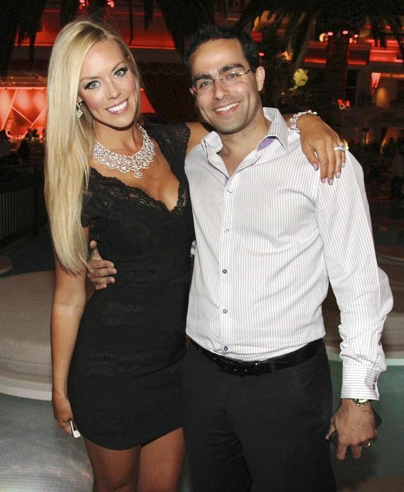 Sarah Chapman with Nadav Attar, owner of Lili Diamonds