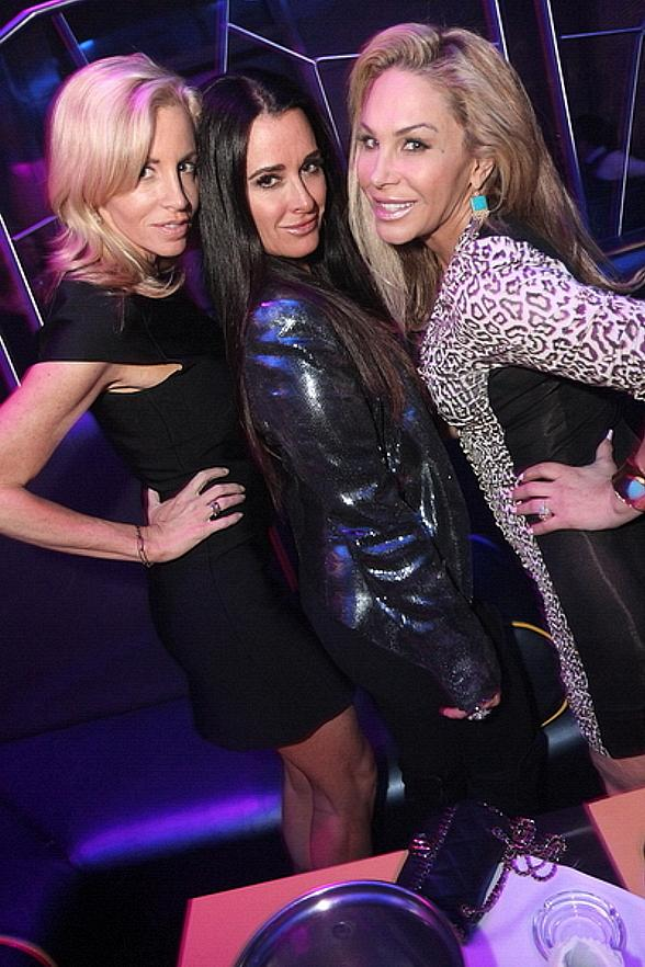 Real Housewives of Beverly Hills Stars at N9NE Steakhouse and Moon Nightclub at The Palms