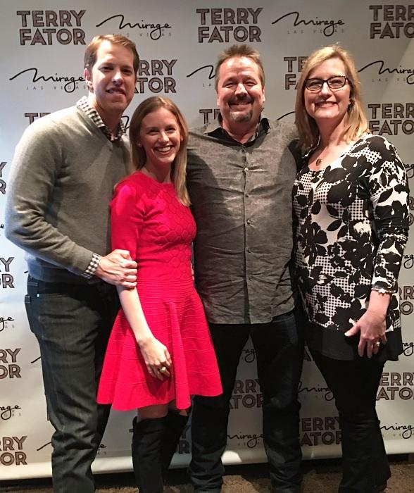 "NASCAR winner Brad Keselowski celebrates at ""Terry Fator: The VOICE of Entertainment at The Mirage"""