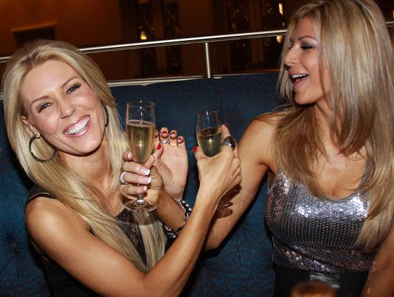 Gretchen Rossi and Alexis Bellino at the Laguna Champagne Bar at The Palazzo